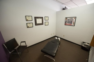 chiropractic room with stationary table