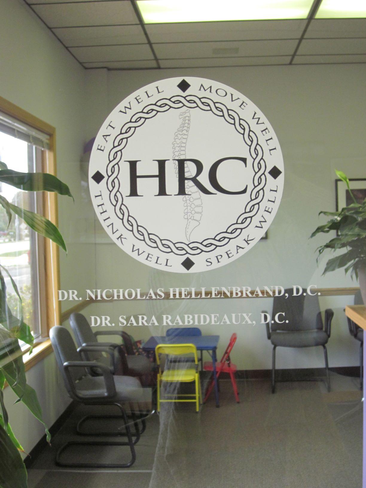 chiropractor front door window logo