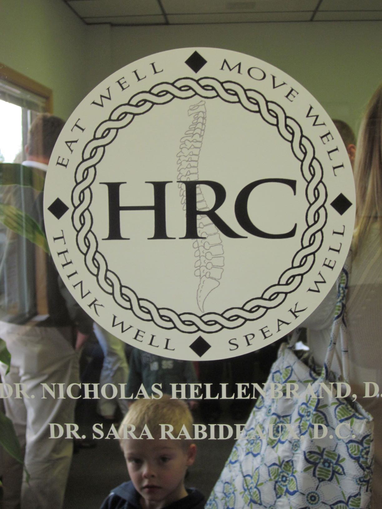 front door logo on chiropractic office